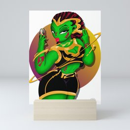 Alien B-Girl Selfie Mini Art Print