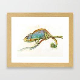 Chroma Chameleon Framed Art Print