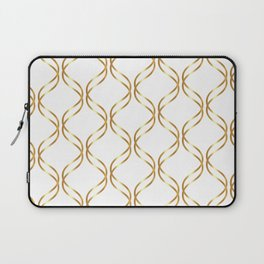 Double Helix - Gold #741 Laptop Sleeve