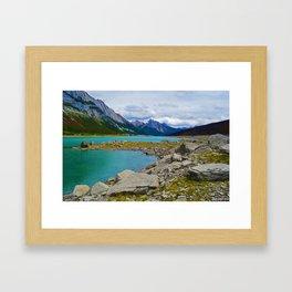 Medicine Lake in the Maligne Valley of Jasper National Park, Canada Framed Art Print