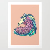 horse Art Prints featuring Beautiful Horse by dvdesign