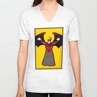 dungeons and dragons V-neck T-shirts featuring DUNGEONS & DRAGONS - AVENGER by Zorio