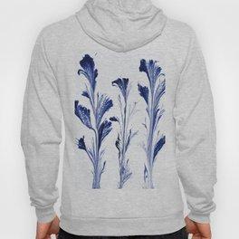 Painted Flowers In Blue Hoody