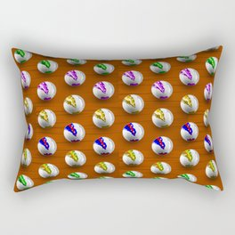Marbles on Wood Pattern Rectangular Pillow
