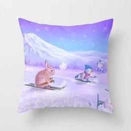 You Can Do It Bunny! Throw Pillow