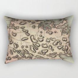 Vintage Map of Antigua (1823) Rectangular Pillow