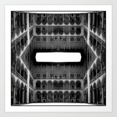 Escher Lives Here Art Print