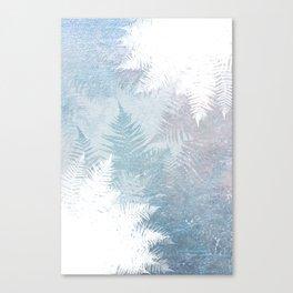 Fern Snowflakes - Taupe, Aqua & Blues Canvas Print
