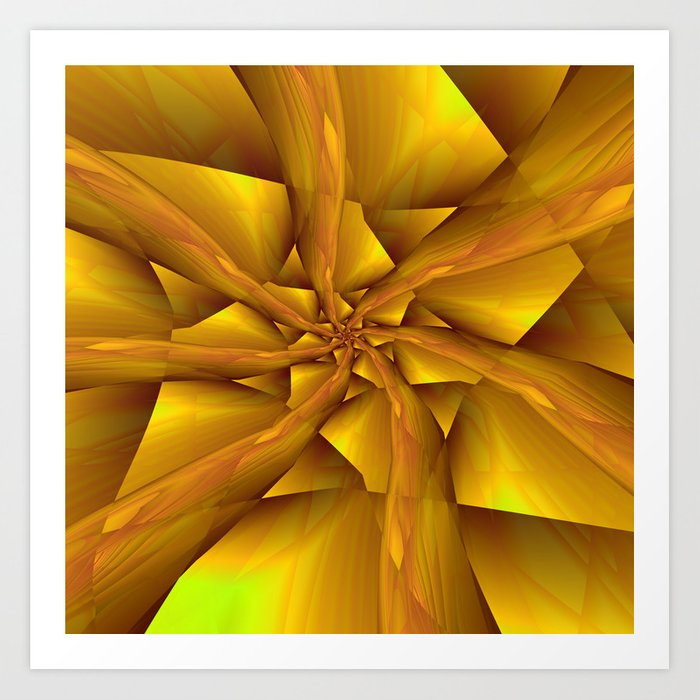 Yellow and Orange Spiral Arms Art Print