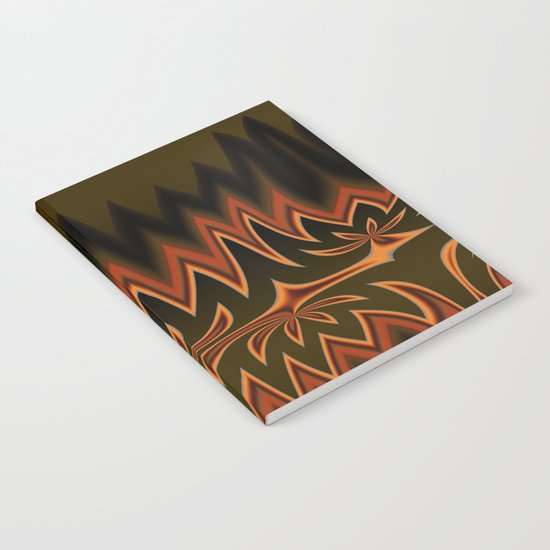 Fractal Tribal Art in Autumn Notebook