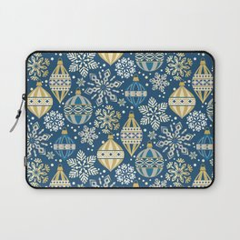 Christmas Ornaments and Snow Laptop Sleeve