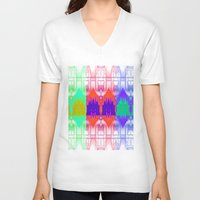 milan V-neck T-shirts featuring Milan Multi by Iconic Arts