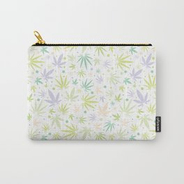 Cute Pastel Cannabis Pattern Carry-All Pouch