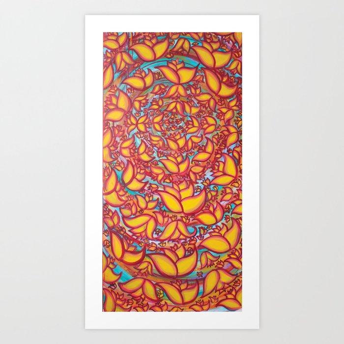 Floral Vortex Art Print
