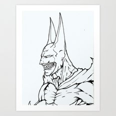 The Undead Bat Art Print