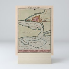 Vintage St Augustine FL Map (1802) Mini Art Print