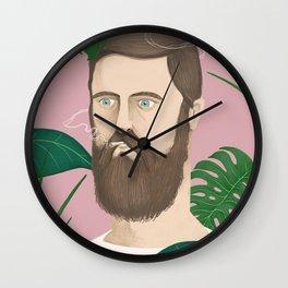 Man plants and cigarettes Wall Clock