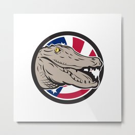 American Alligator USA Flag Icon Metal Print