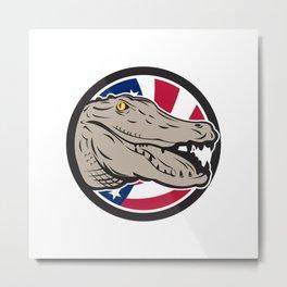 American Alligator USA Flag Icon Metal Print