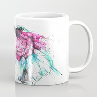 hummingbird Mugs featuring Hummingbird by Alexis Marcou
