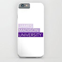 JMU Blocks iPhone Case