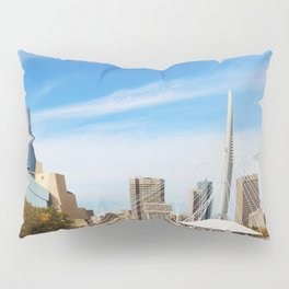 Downtown Winnipeg 2 Picture Panorama Pillow Sham
