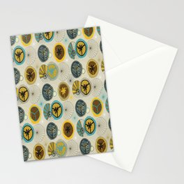 Pies in Mod style Stationery Cards
