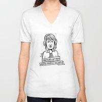 ellie goulding V-neck T-shirts featuring Ellie Sattler by kate gabrielle