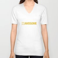audi V-neck T-shirts featuring AWDSOME v1 HQvector by Vehicle
