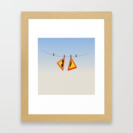 After-swim Framed Art Print
