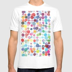 ink drops Mens Fitted Tee MEDIUM White