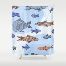 Ocean drive Shower Curtain