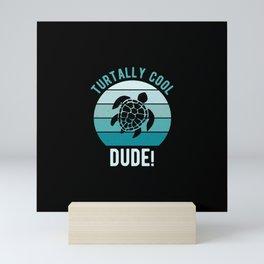 Funny Sea Turtle Mini Art Print
