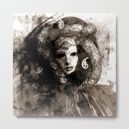 Mask of Venice Metal Print