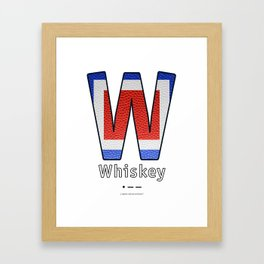 Whiskey - Navy Code Framed Art Print