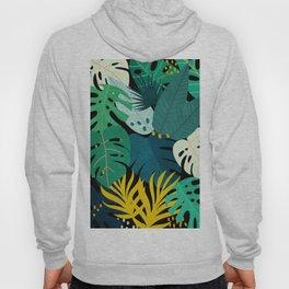 Tropical Jungle Leaves Hoody