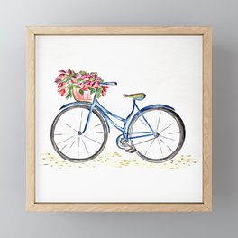 Spring bicycle Framed Mini Art Print