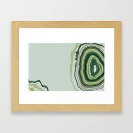 Green Geode Slice Framed Art Print