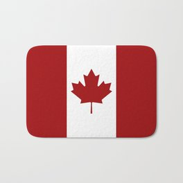 Canada: Canadian Flag (Red & White) Bath Mat