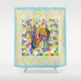ASL Mother for Baby Boy Nursery Shower Curtain