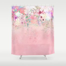 Botanical Fragrances in Blush Cloud-Ιmmersed Shower Curtain