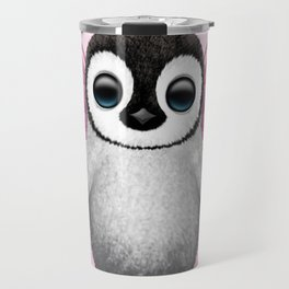 Cute Baby Penguin with Pink Fairy Wings Travel Mug