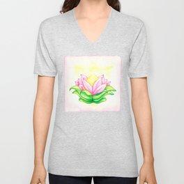 Blooming Heart Unisex V-Neck