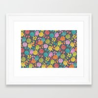roses Framed Art Prints featuring ROSES by Bianca Green