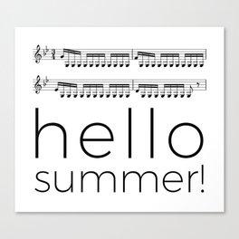 Hello summer! (white) Canvas Print