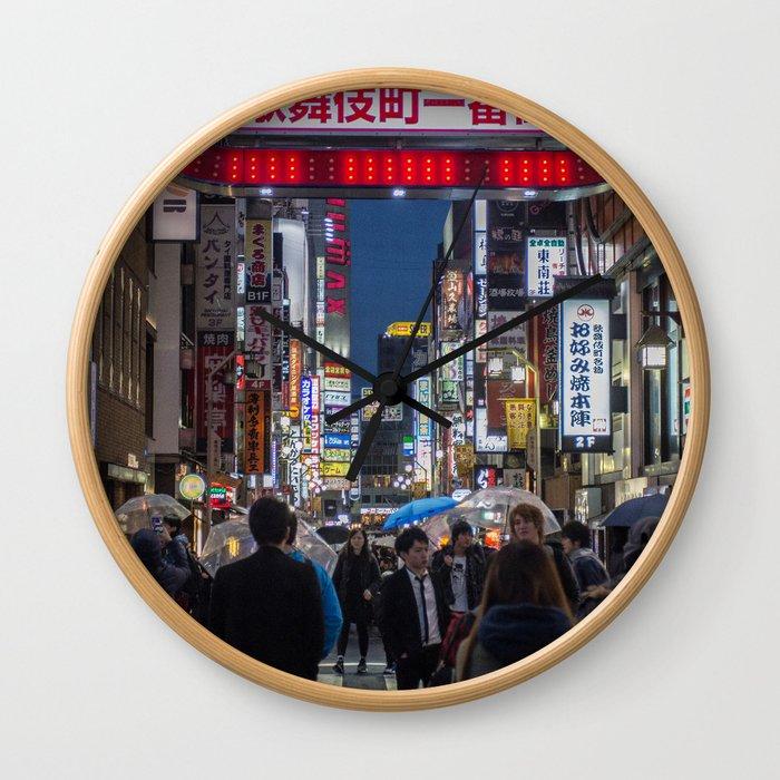 Tokyo Streets Wall Clock