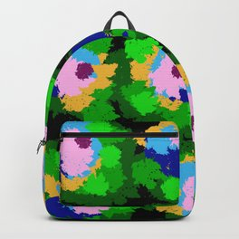 Flowers for Jackson Pollock, Matisse and Van Gogh. Backpack