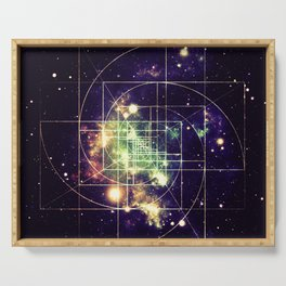 Galaxy Sacred Geometry: Golden mean Serving Tray