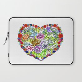 flowers in the heart ( https://society6.com/totalflora/collection ) Laptop Sleeve