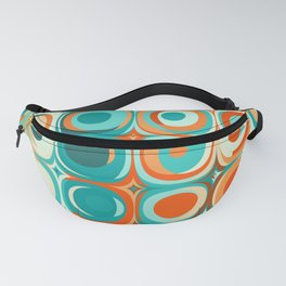 Orange and Turquoise Dots Fanny Pack